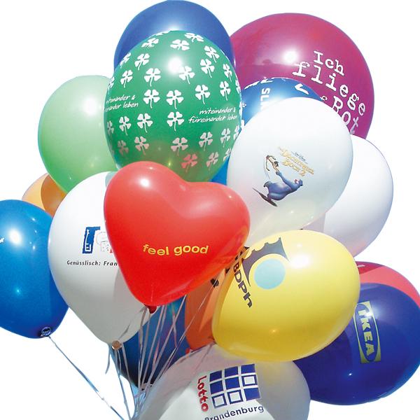 Werbeartikel: Luftballons=Luftballons mit Werbeaufdruck