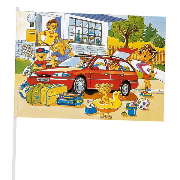 Werbeartikel: Papierfahnen, Fahnenständer=Papierfahnen