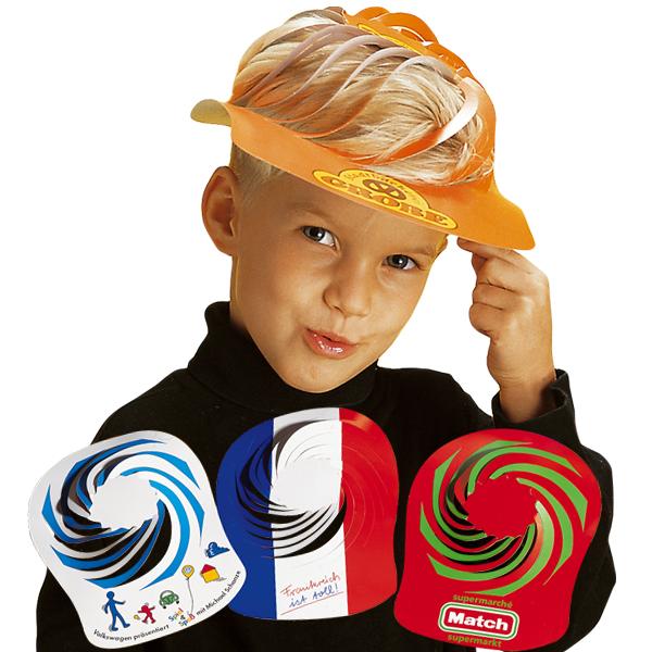 Werbeartikel: Sonnenblenden, Spiralhüte=Spiralhüte