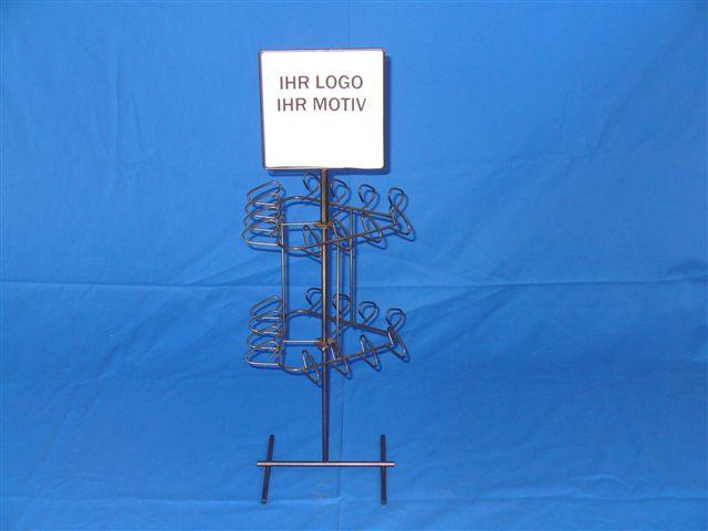 Werbeartikel: Displays, Aufsteller=Drahtgestell Tischaufsteller
