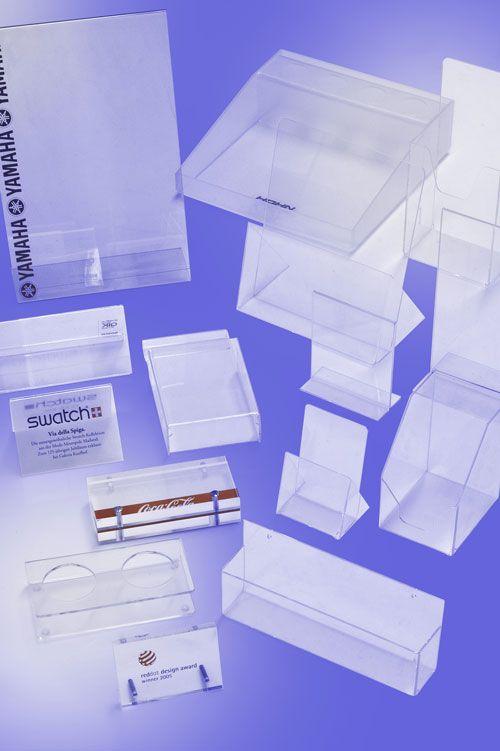 Werbeartikel: Displays, Aufsteller=Acrylglas