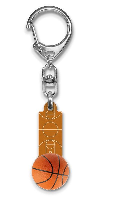 Werbeartikel: Kunststoff-Schluesselanhänger,=Kunststoff-Basketball