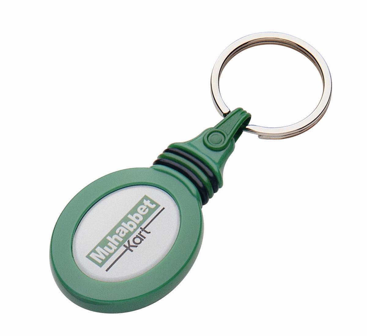 Werbeartikel: Kunststoff-Schluesselanhänger,=Autoschlüssel