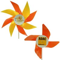 Werbeartikel: Windmühlen, Fahrrad-windmühlen,=kunststoff-windmühlen