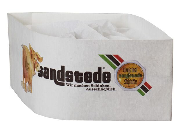 Werbeartikel: Papier-Kochmützen=Schiffchenmützen