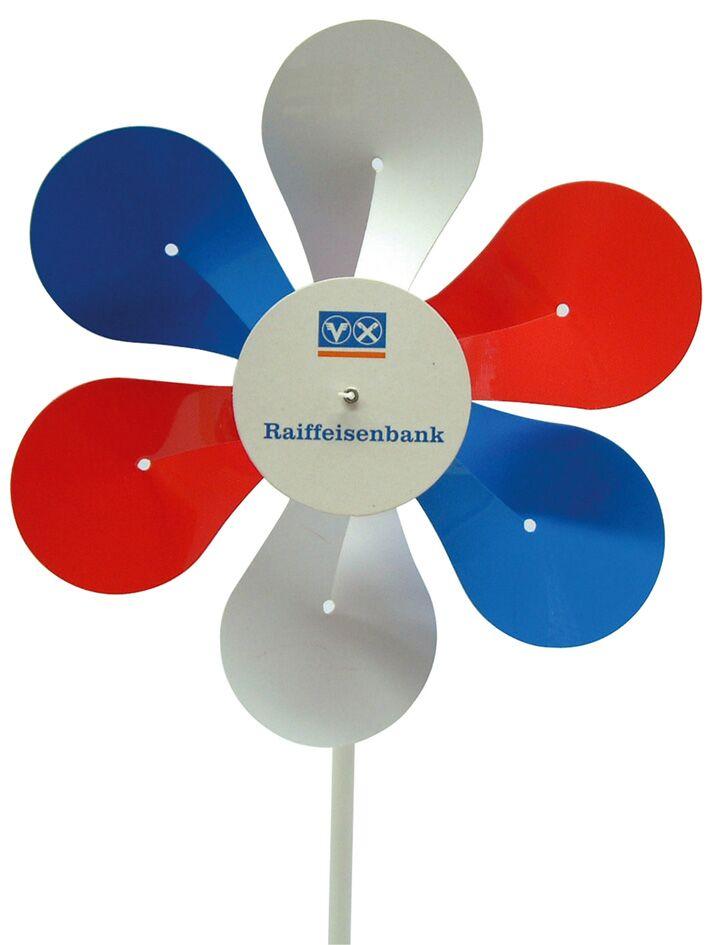 Werbeartikel: Windmühlen, Fahrrad-windmühlen,=Schaufelmühlen 6-flügelig