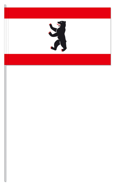 Werbeartikel: Papierfahnen, Fahnenständer=Berlin Papierfahnen