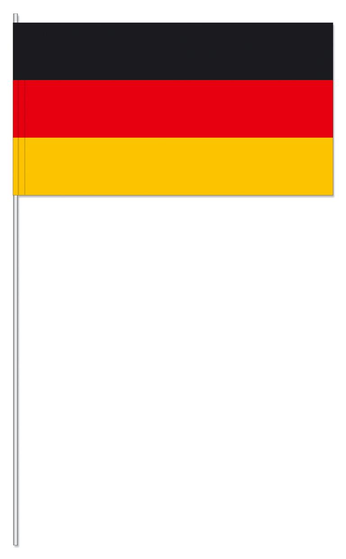 Werbeartikel: Papierfahnen, Fahnenständer=Deutschland Papierfahne
