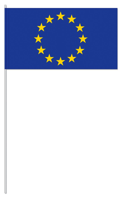 Werbeartikel: Papierfahnen, Fahnenständer=Europa Papierfahnen
