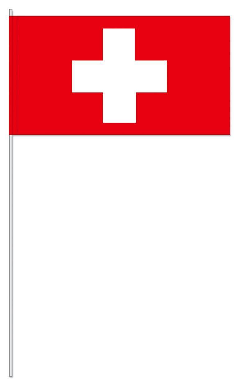 Werbeartikel: Papierfahnen, Fahnenständer=Schweiz Papierfahnen
