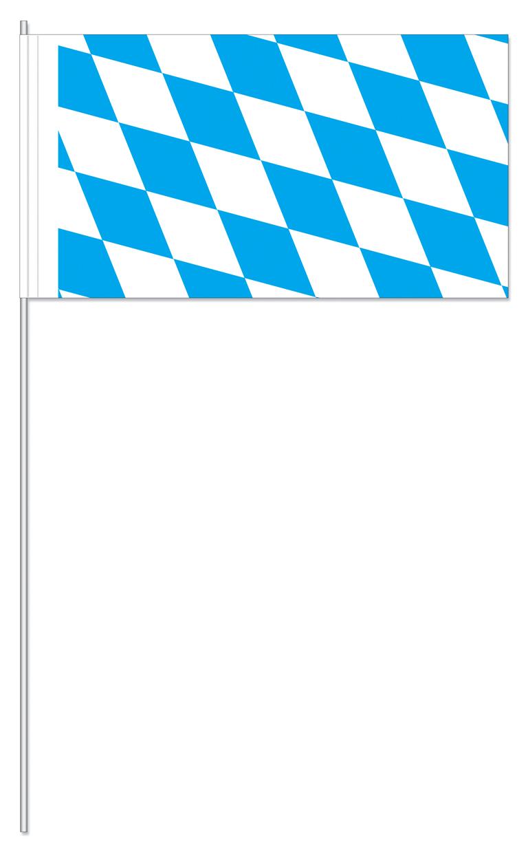 Werbeartikel: Papierfahnen, Fahnenständer=Bayern Papierfahnen