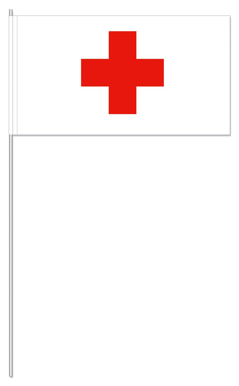 Werbeartikel: Papierfahnen, Fahnenständer=Rotes Kreuz Papierfahnen