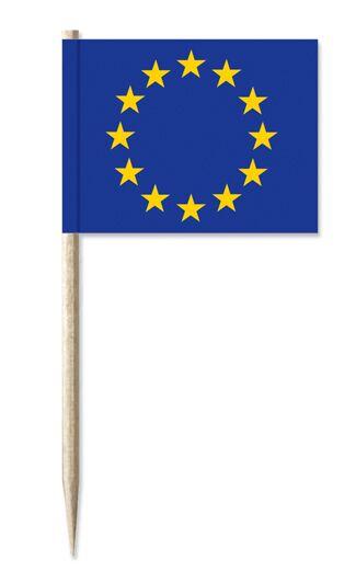 Werbeartikel: Minifahnen, Kostprobenpicker=Europa Minifahnen