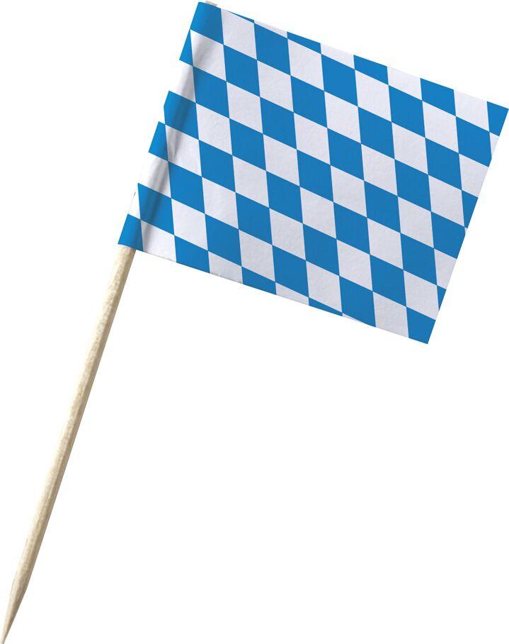 Werbeartikel: Minifahnen, Kostprobenpicker=Minifahnen Bayern