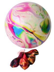 Werbeartikel: Luftballons=Marmorierte Ballons