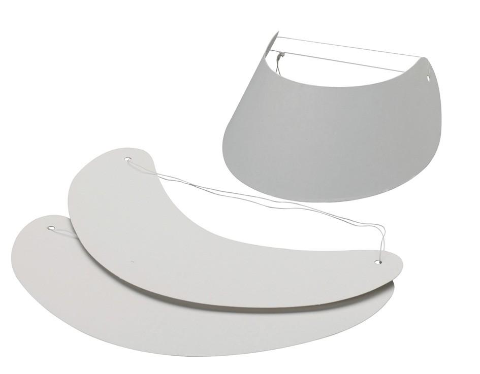 Werbeartikel: Sonnenblenden, Spiralhüte=Weiße Sonnenblenden