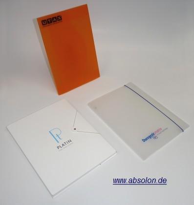 Werbeartikel: Mappen, Ordner, Koffer=Präsentationsmappen Polypropylen