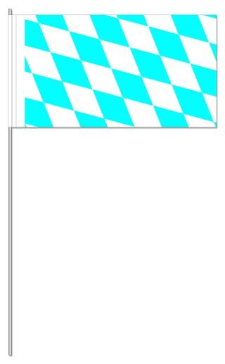 "Werbeartikel: Themendekoration Bayern ab Lager=Papierfahnen ""Bayern"""