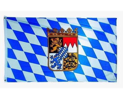 "Werbeartikel: Themendekoration Bayern ab Lager=Polyesterfahnen ""Bayern"""