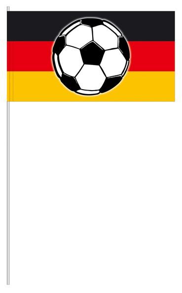 Werbeartikel: Themendekoration Deutschland=Papierfahnen Deutschland mit Ball