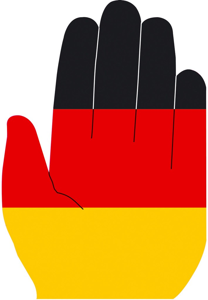 """Werbeartikel: Themendekoration Deutschland=Winkehände """"Deutschland"""""""