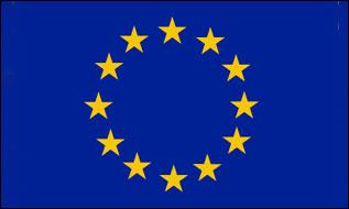 "Werbeartikel: Themendekoration Europa=Polyester fahnen ""Europa"""