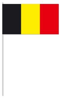 Werbeartikel: Papierfahnen, Fahnenständer=Belgien Papierfahnen,