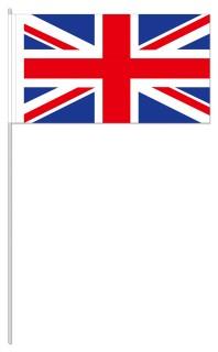 Werbeartikel: Papierfahnen, Fahnenständer=Großbritannien Papierfahnen,