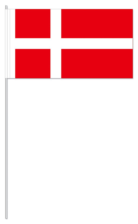 Werbeartikel: Papierfahnen, Fahnenständer=Dänemark Papierfahnen
