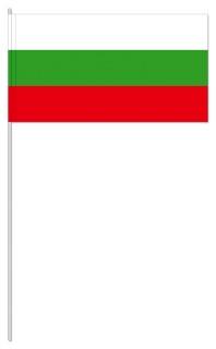 Werbeartikel: Papierfahnen, Fahnenständer=Bulgarien Papierfahnen