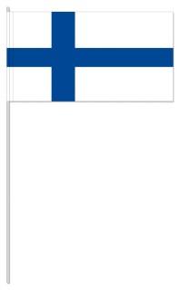 Werbeartikel: Papierfahnen, Fahnenständer=Finnland Papierfahnen