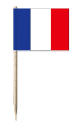 Werbeartikel: Minifahnen, Kostprobenpicker=Frankreich Minifahnen