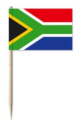 Werbeartikel: Minifahnen, Kostprobenpicker=Südafrika Minifahnen,