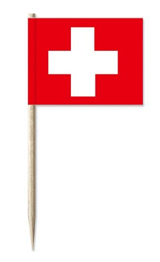 Werbeartikel: Minifahnen, Kostprobenpicker=Schweiz Minifahnen,
