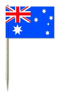 Werbeartikel: Minifahnen, Kostprobenpicker=Australien Minifahnen,