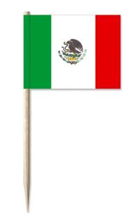 Werbeartikel: Minifahnen, Kostprobenpicker=Mexiko Minifahnen