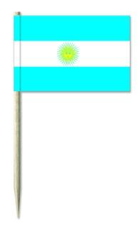 Werbeartikel: Minifahnen, Kostprobenpicker=Argentinien Partypicker