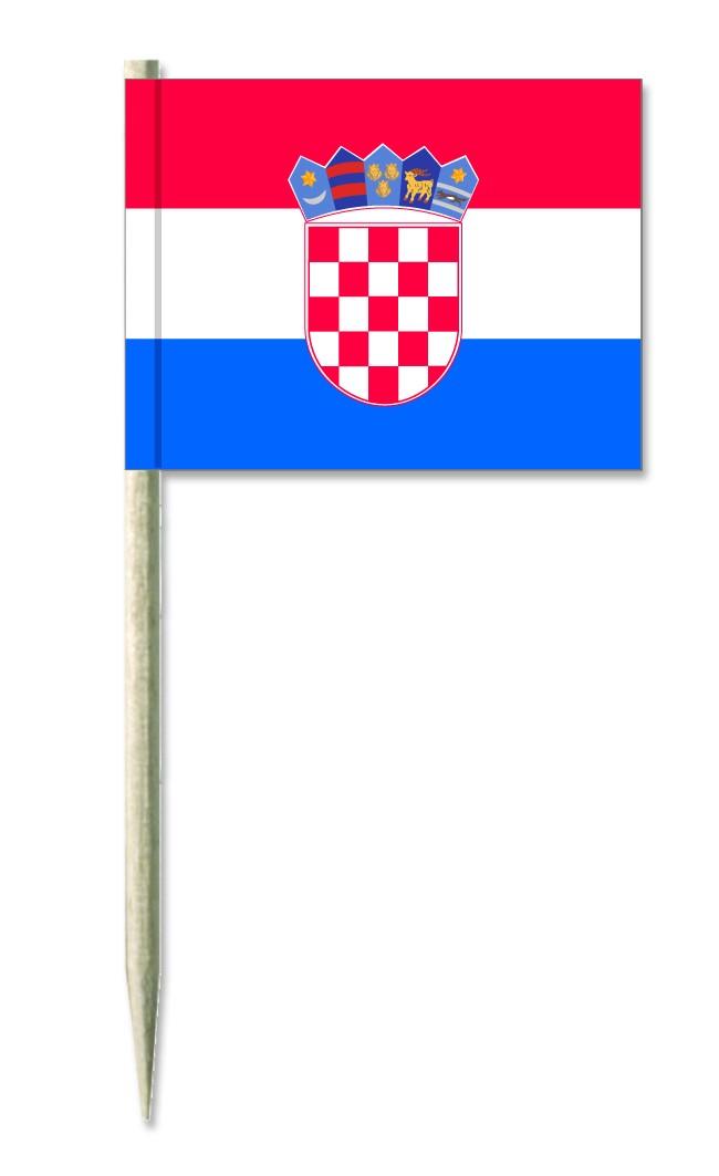 Werbeartikel: Kroatien Minifahnen,