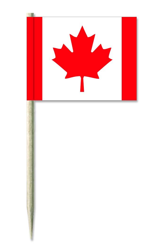 Werbeartikel: Minifahnen, Kostprobenpicker=Kanada Minifahnen