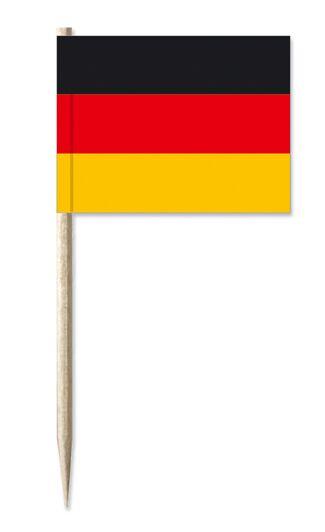 Werbeartikel: Minifahnen, Kostprobenpicker=Deutschland Minifahnen