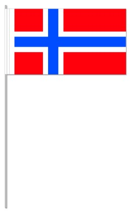 Werbeartikel: Papierfahnen, Fahnenständer=Papierfahnen Norwegen