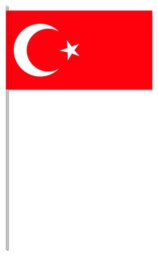 Werbeartikel: Papierfahnen, Fahnenständer=Türkei Papierfahnen