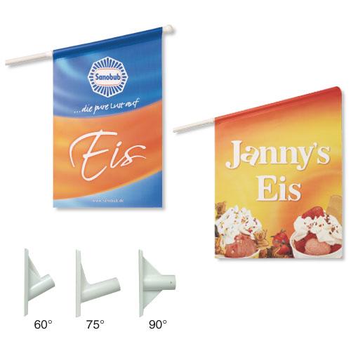 Werbeartikel: Kioskfahnen, Werbefahnen,=Kioskfahnen, Kioskfahne,