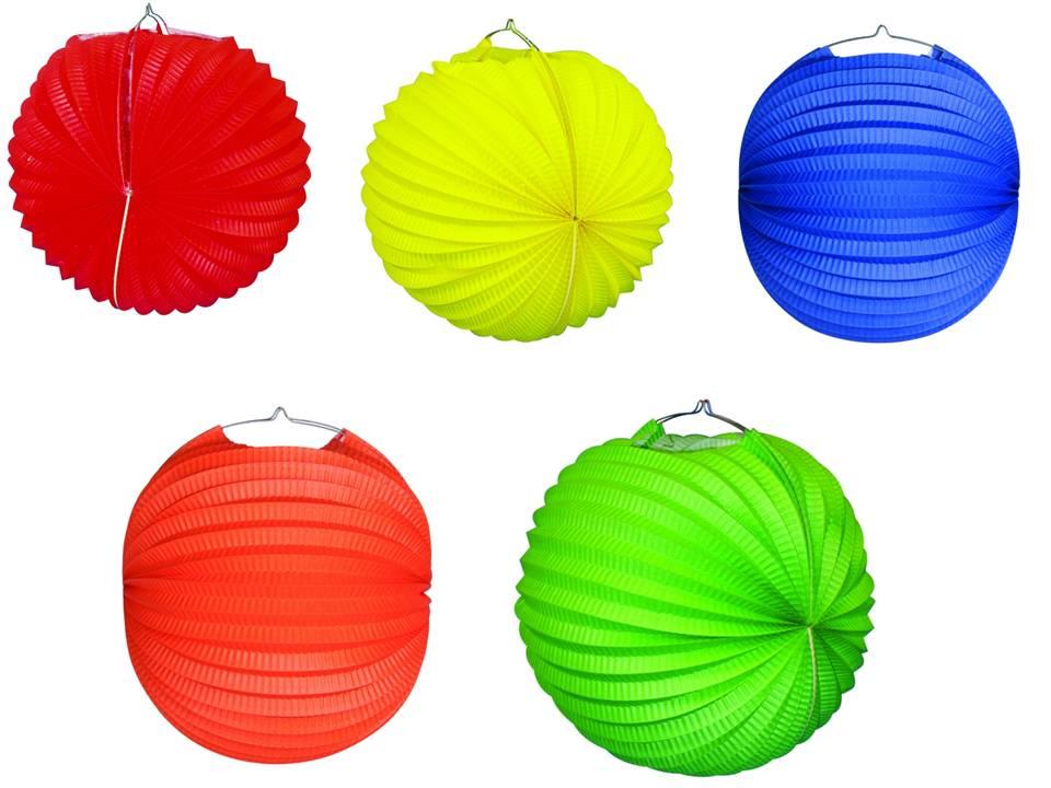 Werbeartikel: Ballonlaternen in zwei Größen ab Lager=Ballonlaternen bunt gemischt 28 cm Ø,