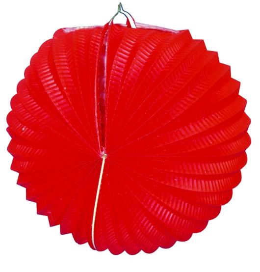Werbeartikel: Ballonlaternen in zwei Größen ab Lager=Ballonlaternen rot 24 cm Ø
