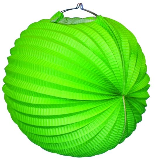 Werbeartikel: Ballonlaternen grün 24 cm Ø