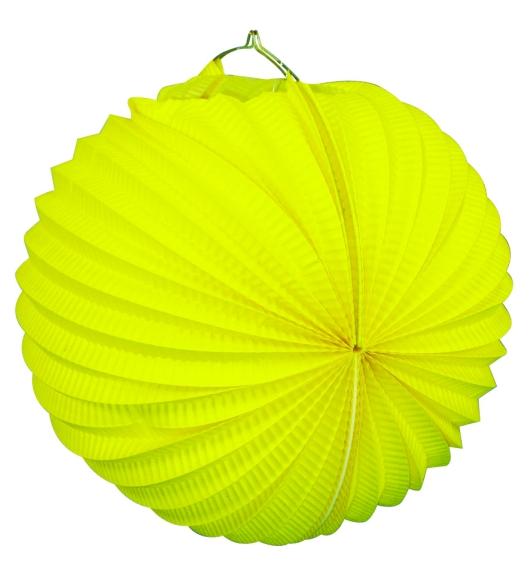Werbeartikel: Ballonlaternen in zwei Größen ab Lager=Ballonlaternen gelb 24 cm Ø