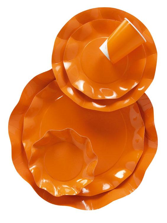 Werbeartikel: Geschirr Uni Farben,=Geschirr Orange - UH