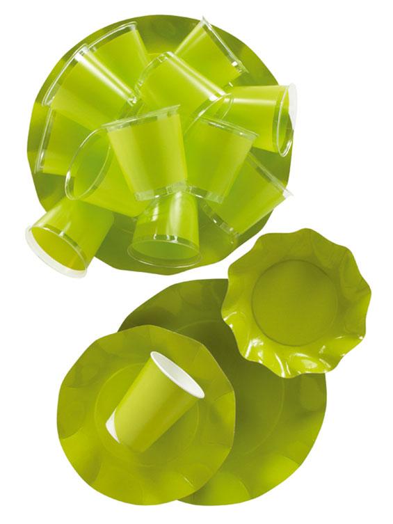 Werbeartikel: Geschirr Uni Farben,=Geschirr Lime Grün
