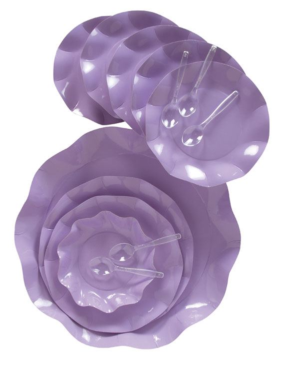 Geschirr Lila, Becher, Becher Kristall, Rechteckiges